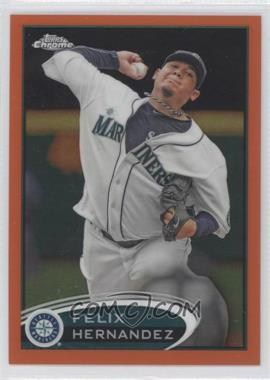 2012 Topps Chrome Retail Orange Refractor #116 - Felix Hernandez