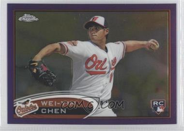 2012 Topps Chrome Retail Purple Refractor #188 - Wei-Yin Chen