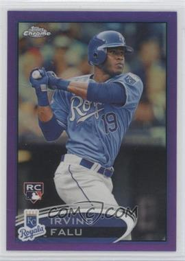 2012 Topps Chrome Retail Purple Refractor #200 - Irving Falu