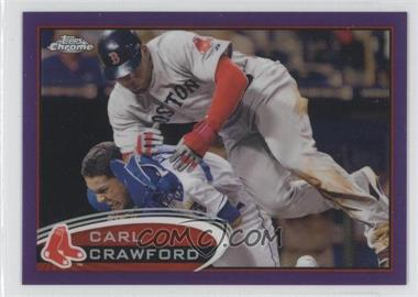 2012 Topps Chrome Retail Purple Refractor #29 - Carl Crawford