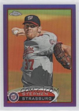 2012 Topps Chrome Retail Purple Refractor #70 - Stephen Strasburg
