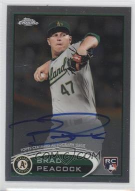 2012 Topps Chrome Rookie Autographs [Autographed] #163 - Brad Peacock