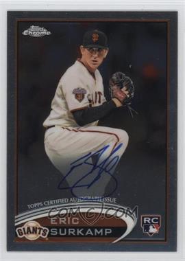 2012 Topps Chrome Rookie Autographs [Autographed] #181 - Eric Surkamp