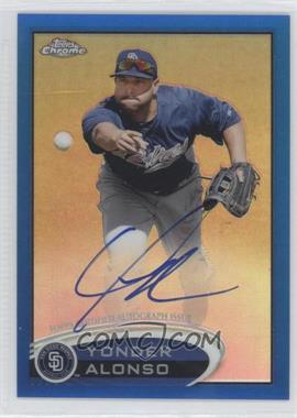2012 Topps Chrome Rookie Autographs Blue Refractor [Autographed] #101 - Yonder Alonso /199