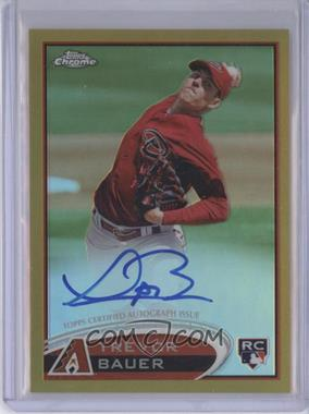 2012 Topps Chrome Rookie Autographs Gold Refractor [Autographed] #TB - Trevor Bauer /50