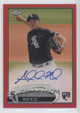 2012 Topps Chrome Rookie Autographs Red Refractor [Autographed] #166 - Addison Reed /25