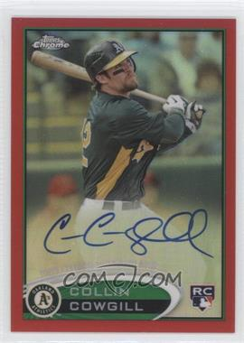 2012 Topps Chrome Rookie Autographs Red Refractor [Autographed] #178 - Collin Cowgill /25