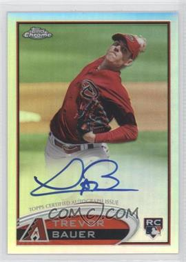 2012 Topps Chrome Rookie Autographs Refractor [Autographed] #TB - Trevor Bauer /499