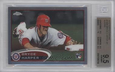 2012 Topps Chrome #196.2 - Bryce Harper (Sliding) [BGS9.5]