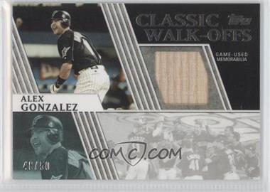 2012 Topps Classic Walk-Offs Relics #CWR-AG - Alex Gonzalez /50