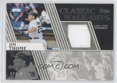 2012 Topps Classic Walk-Offs Relics #CWR-JT - Jim Thome /50