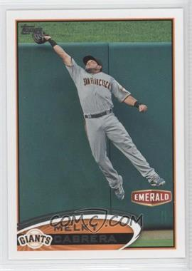 2012 Topps Emerald Nuts San Francisco Giants - [Base] #SF25 - Melky Cabrera