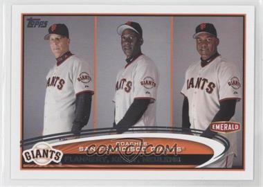 2012 Topps Emerald Nuts San Francisco Giants - [Base] #SF32 - Tim Flannery, Roberto Kelly, Hensley Meulens