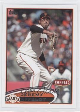 2012 Topps Emerald Nuts San Francisco Giants #SF1 - Jeremy Affeldt