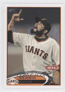 2012 Topps Emerald Nuts San Francisco Giants #SF10 - Sergio Romo