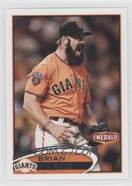 2012 Topps Emerald Nuts San Francisco Giants #SF12 - Brian Wilson