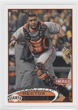 2012 Topps Emerald Nuts San Francisco Giants #SF15 - Hector Sanchez