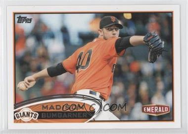 2012 Topps Emerald Nuts San Francisco Giants #SF2 - Madison Bumgarner