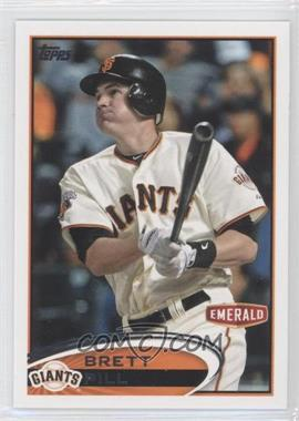 2012 Topps Emerald Nuts San Francisco Giants #SF20 - Brett Pill