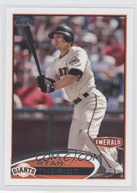 2012 Topps Emerald Nuts San Francisco Giants #SF23 - Ryan Theriot