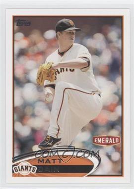 2012 Topps Emerald Nuts San Francisco Giants #SF3 - Matt Cain