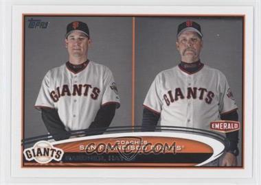 2012 Topps Emerald Nuts San Francisco Giants #SF31 - Mark Gardner, Bill Hands, Bill Hayes