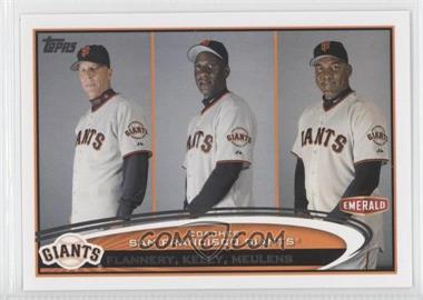 2012 Topps Emerald Nuts San Francisco Giants #SF32 - Tim Flannery, Roberto Kelly, Hensley Meulens