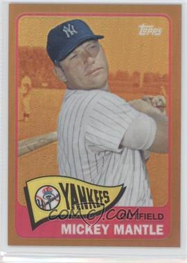 2012 Topps Factory Set Exclusive Chrome Gold Refractors #350 - Mickey Mantle