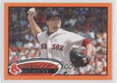 2012 Topps Factory Set Orange #648 - Josh Beckett /190