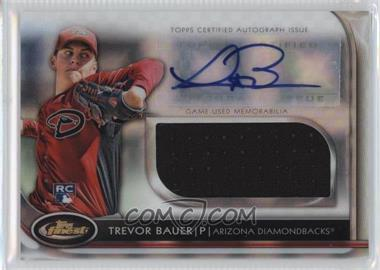 2012 Topps Finest - Autographed Jumbo Relic Rookies - X-Fractor #AJR-TB - Trevor Bauer /299