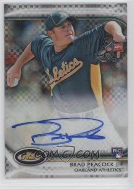 2012 Topps Finest - Autographed Rookies - X-Fractor #AR-BP - Brad Peacock /299