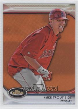 2012 Topps Finest - [Base] - Orange Refractor #78 - Mike Trout /99