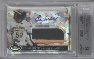 2012 Topps Finest Autographed Jumbo Relic Rookies Atomic Refractor #AJR-AJR-YC - Yoenis Cespedes /5 [BGS 9]