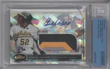 2012 Topps Finest Autographed Jumbo Relic Rookies Atomic Refractor #AJR-AJR-YC - Yoenis Cespedes /5 [BGS AUTHENTIC]