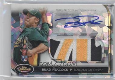 2012 Topps Finest Autographed Jumbo Relic Rookies Atomic Refractor #AJR-BP - Brad Peacock /5