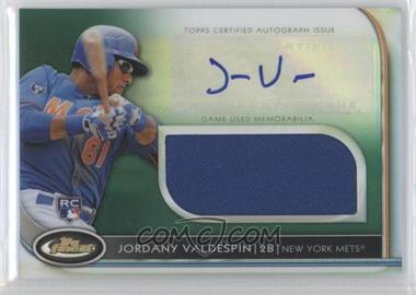 2012 Topps Finest Autographed Jumbo Relic Rookies Green Refractor #AJR-JVN - Jordany Valdespin /199