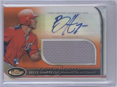 2012 Topps Finest Autographed Jumbo Relic Rookies Orange Refractor #AJR-BH - Bryce Harper /99