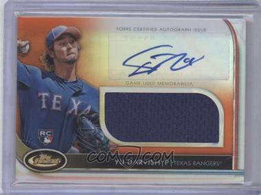 2012 Topps Finest Autographed Jumbo Relic Rookies Orange Refractor #AJR-YD - Yu Darvish /99