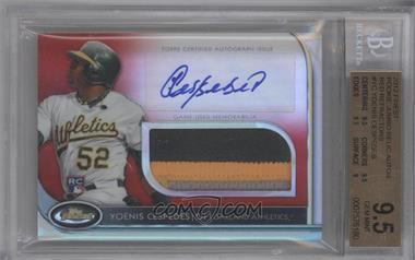2012 Topps Finest Autographed Jumbo Relic Rookies Red Refractor #AJR-YC - Yoenis Cespedes /25 [BGS 9.5]