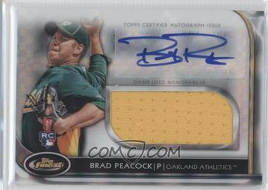 2012 Topps Finest Autographed Jumbo Relic Rookies X-Fractor [Autographed] #AJR-BP - Brad Peacock /299