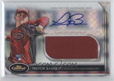 2012 Topps Finest Autographed Jumbo Relic Rookies X-Fractor [Autographed] #AJR-TB - Trevor Bauer /299
