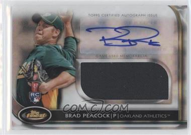 2012 Topps Finest Autographed Jumbo Relic Rookies X-Fractor #AJR-BP - Brad Peacock /299