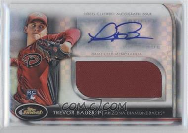 2012 Topps Finest Autographed Jumbo Relic Rookies X-Fractor #AJR-TB - Trevor Bauer /299