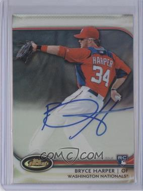 2012 Topps Finest Autographed Rookies Refractor #AR-BH - Bryce Harper /198
