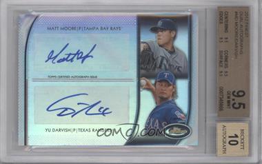 2012 Topps Finest Dual Autographs #DA-MD - Matt Moore, Yu Darvish /10 [BGS9.5]
