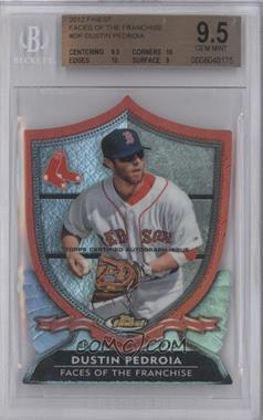 2012 Topps Finest Faces of the Franchise Die-Cut Autographs #FF-DP - Dustin Pedroia [BGS 9.5]