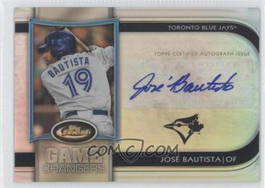 2012 Topps Finest Game Changers Autographs #GCA-JB - Jose Bautista /10