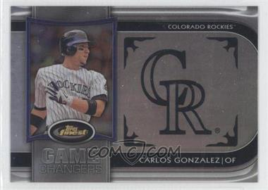 2012 Topps Finest Game Changers #GC-CG - Carlos Gonzalez