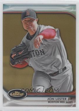 2012 Topps Finest Gold Refractor #44 - Jon Lester /50
