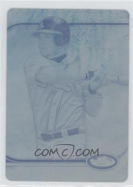 2012 Topps Finest Printing Plate Cyan #58 - Chipper Jones /1